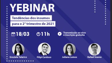 Photo of YEBINAR: Tendências dos Insumos para o 2º trimestre de 2021